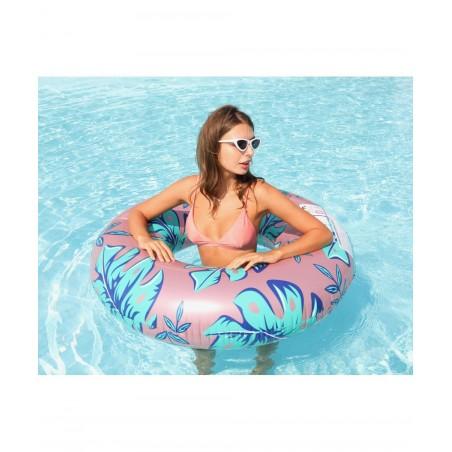 Trampoline avec filet de protection Deluxe Jump4Fun 13FT - 6 Perches - 400 cm - Bleu - Nouveauté 2018 !