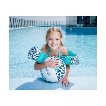 Trampoline de jardin Deluxe Jump4Fun 14FT - 6 perches - 427 cm - Orange