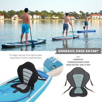 Mini Trampoline Fitness Jump4fun Double-Bar Pliable 92cm Rouge
