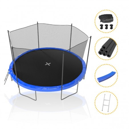 Trampoline Deluxe Jump4Fun 8FT - 244cm - Rouge