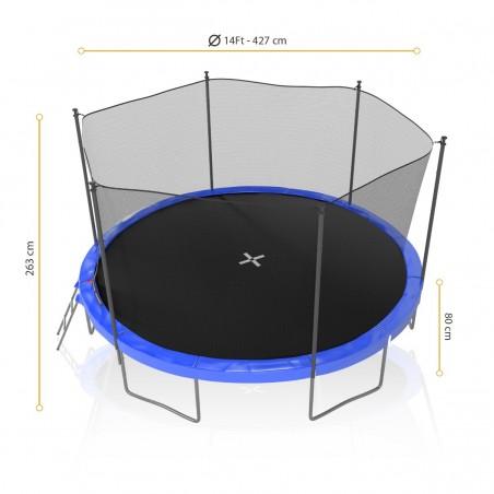 Trampoline Jump4Fun avec filet de sécurité 8FT - 244cm - Noir