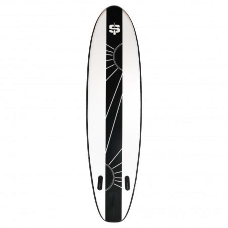 Echelle pour trampolines Semi-Pro 8FT avec 2 marches noires en plastique - 80 cm
