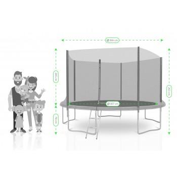 Tapis de saut Jump4Fun Mini-trampoline 122cm avec élastiques