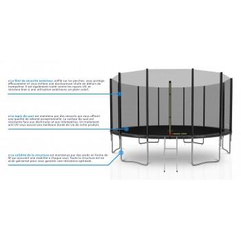 Housse de protection grise mini-trampoline 36'