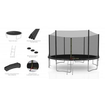 Housse de protection rouge mini-trampoline 36'
