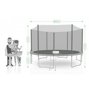 Housse de protection bleue mini trampoline avec élastiques 122cm