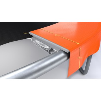 Protection en mousse verte pour tubes de filet de sécurité de trampolines
