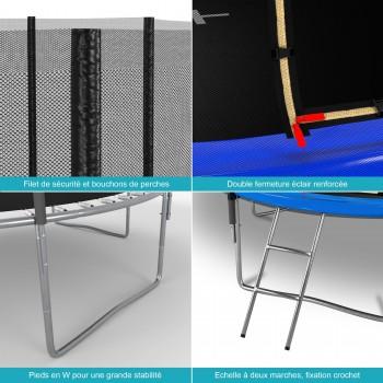 Pack de 6 Mousses de protection des Perches - Trampoline - 10FT - 305cm - Vert Pomme