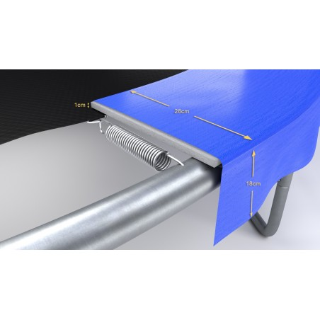 Pack de 6 Mousses de protection des Perches - Trampoline - 10FT - 305cm - Vert Pomme