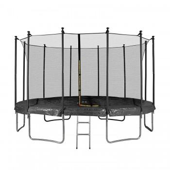 Trampoline Luxury Carré - 244 x 244cm Noir