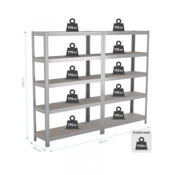 Trampoline avec filet de protection Jump4Fun Deluxe 10FT - 305cm - Orange