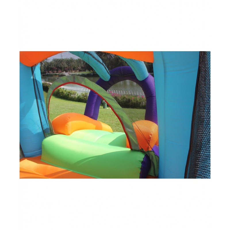 Trampoline Deluxe Jump4Fun 13FT - 12 perches - 400 cm - Noir