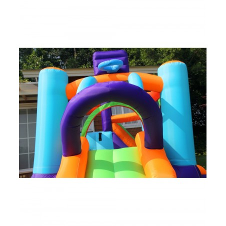 Trampoline Deluxe Jump4Fun 13FT - 12 perches - 400 cm - Bleu