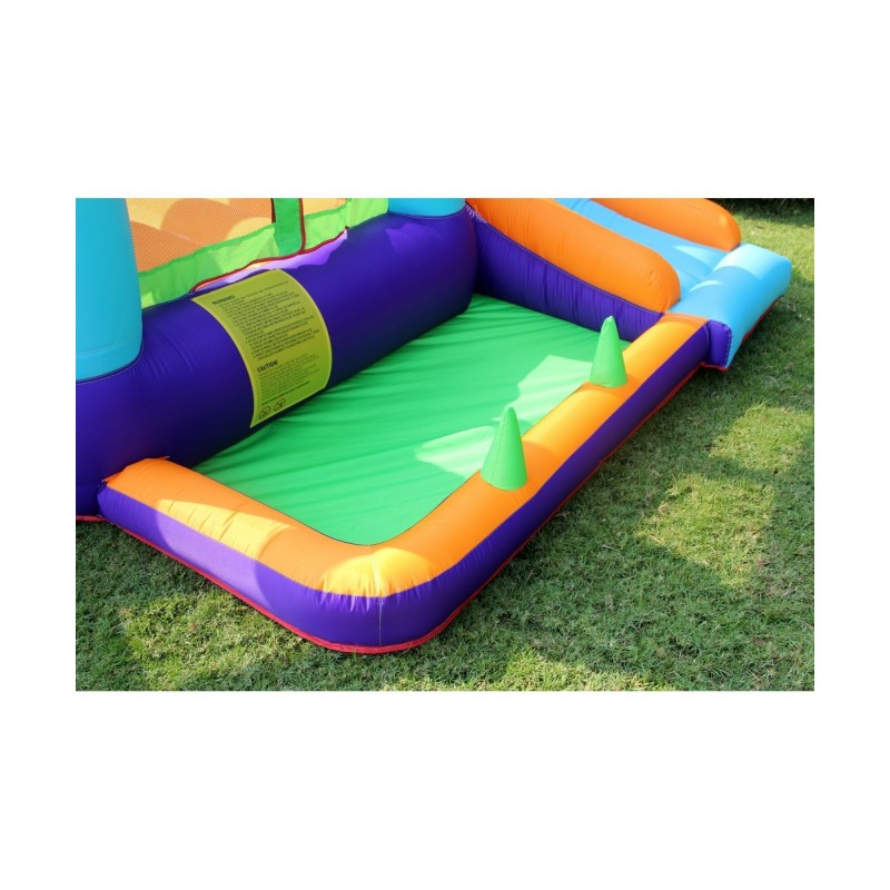 Trampoline Deluxe Jump4Fun 13FT - 12 perches - 400 cm - Vert pomme
