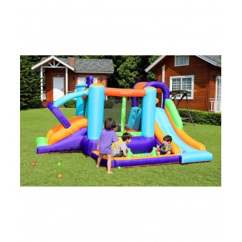 Trampoline Deluxe Jump4Fun 13FT - 12 perches - 400 cm - Orange