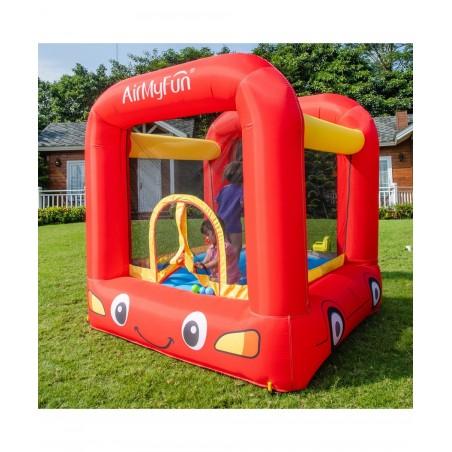 Grand trampoline Jump4Fun 13FT - 12 perches - 400 cm - Bleu - Nouveauté 2018 !