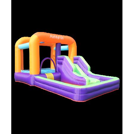 Grand trampoline Jump4Fun 13FT - 12 perches - 400 cm - Vert pomme - Nouveauté 2018 !