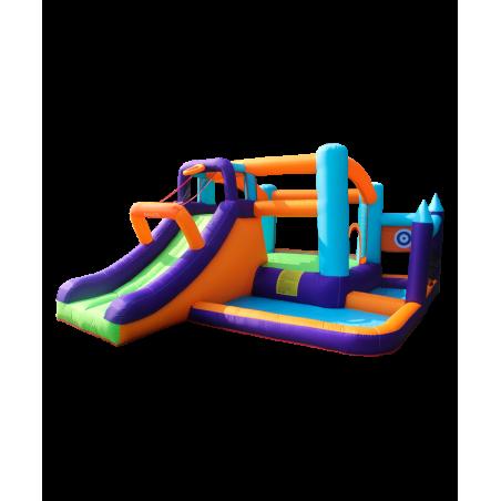 Trampoline avec filet de protection extérieur Jump4Fun 13FT - 12 perches - 400 cm - Vert pomme - Nouveauté 2018 !