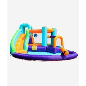 Trampoline de jardin Deluxe Jump4Fun 13FT - 12 perches - 400 cm - Vert pomme - Nouveauté 2018 !