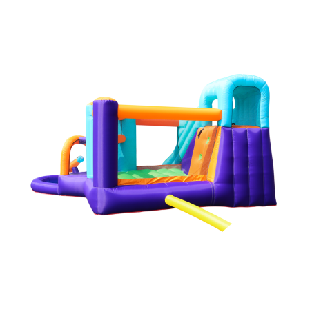 Trampoline de jardin Deluxe Jump4Fun 13FT - 12 perches - 400 cm - Orange - Nouveauté 2018 !