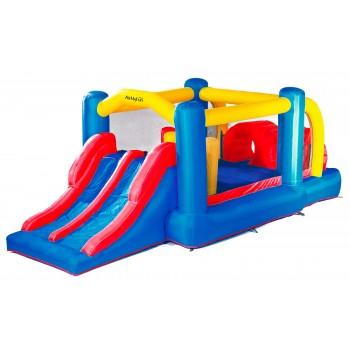Dimensions trampoline Deluxe Jump4Fun 14FT - 12 perches - 427 cm - Vert pomme - Nouveauté 2018 !