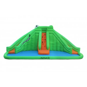 Trampoline Deluxe Jump4Fun 12FT - 5 Perches - 366cm - Vert pomme